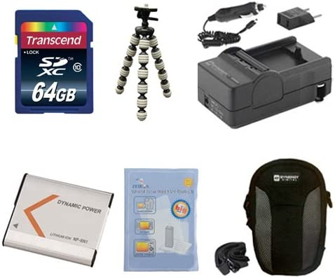 SDC-22 Case KSD64GB Memory Card SDM-1515 Charger GP-10 Tripod ZELCKSG Care /& Cleaning Sony Cyber-shot DSC-W810 Digital Camera Accessory Kit includes: SDNPBN1 Battery