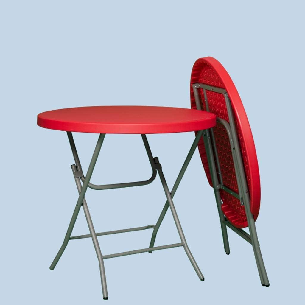 LYLLYL Casa Plegable pequeña Mesa Redonda/jardín, balcón, Mesa Plegable de plástico súper Resistente, Capacidad de Carga de hasta 170 kg Mesa Plegable (Color : Rojo): Amazon.es: Hogar