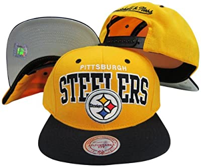 Pittsburgh Steelers Yellow/Black Two Tone Plastic Snapback Adjustable Snap Back Hat / Cap