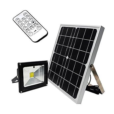 Luces remota Solar 20 W iluminación exterior LED proyector ...