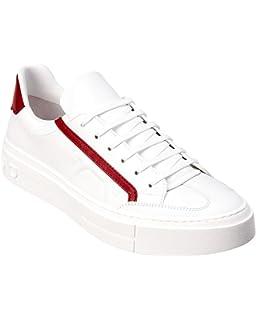 Amazon.com   Salvatore Ferragamo Gancini Leather Sneaker, 10 M ... 4afa57ae69