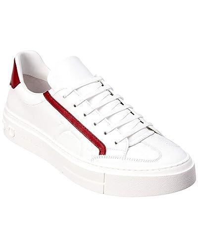 abc32ed74496 Amazon.com  Salvatore Ferragamo Gancini Leather Sneaker