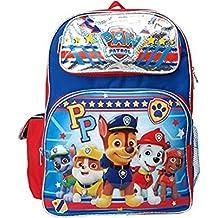 """Backpack - Paw Patrol - Boys Team PP Silver 16"""" School Bag 116132"""