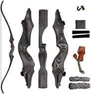 """SinoArt 58"""" Takedown Recurve Bow Bamboo Limbs Archery Right or Left Handed Riser Bow for Hunting Target S"""
