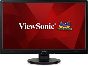 ViewSonic VA2446MH-LED 24 Inch Full HD 1080p LED Monitor with HDMI and VGA Inputs for Home and Office,Black