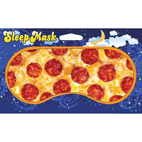 [Pepperoni Pizza Design Novelty Sleeping Mask for Travel or Home] (Costumes Pizza Hat)