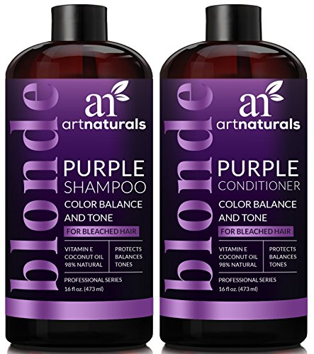 ArtNaturals-Purple-Shampoo-and-Conditioner-Set--16-Fl-Oz-x-2--Protects-Balances-and-Tones--Bleached-Color-Treated-Silver-and-Blonde-Hair