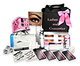 Eyelash Extension Kit | No Burn Glue Non Irritant | Made in USA | Over 300 Applications with Lashes Single, Cluster, Strip, Designer. Professional Use Grade