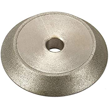 "3/"" Diamond Grinding Wheel 60 Degree Abrasive Disc for Carbide Grinder 1//2/"" Bore"