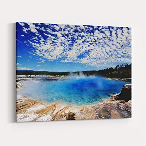 Rosenberry Rooms Canvas Wall Art Prints - The Midway Gayer Basin with Beautiful Clouds in The Background (18 x 12 inches)