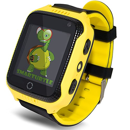 OLTEC Smart Watch for Kids - Smart Watches for Boys Smartwatch GPS Tracker Watch Wrist Android Mobile Camera Cell Phone Best Gift for Girls Children boy Pink Blue Yellow (Blue) (Yellow)