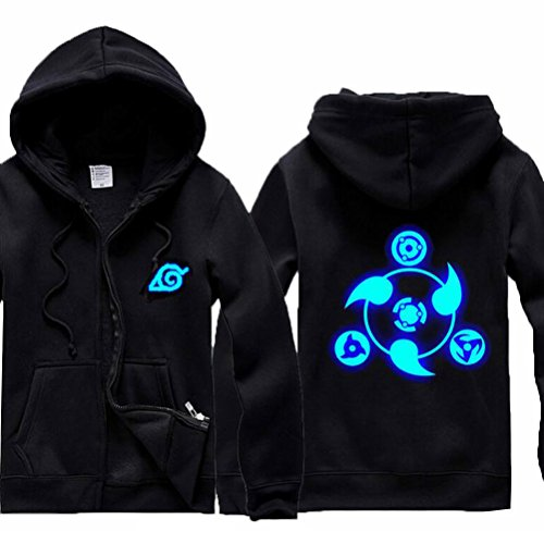 Poetic Walk Naruto Shippuden Cosplay Luminous Jacket Daily Coat (Medium, (Naruto Shippuden Jacket)