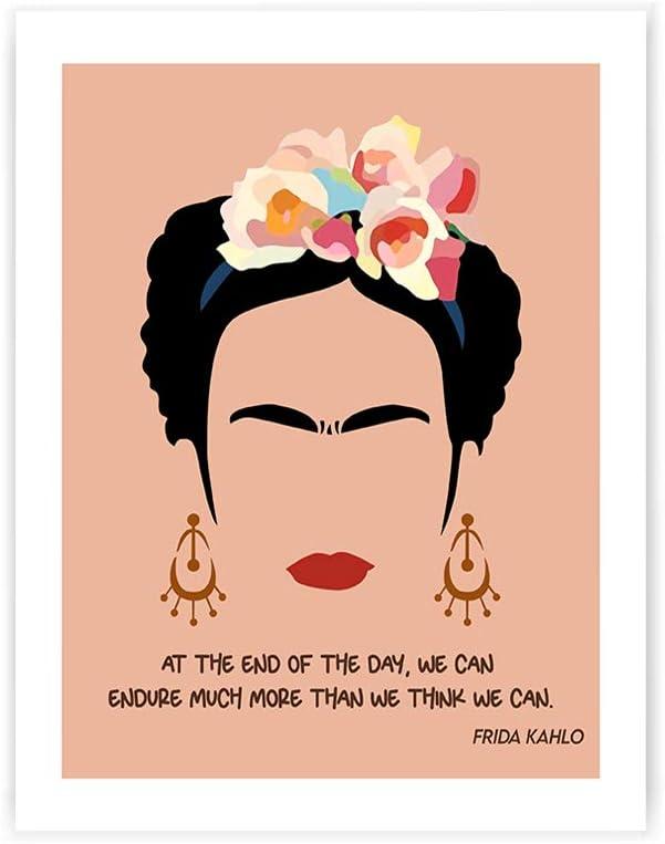 Frida Kahlo Quote Print, Feminist Artwork Poster, Minimalist Print 8x10 Unframed