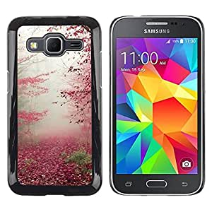 Paccase / SLIM PC / Aliminium Casa Carcasa Funda Case Cover para - Autumn Leaves Red Fall Nature Trees Forest - Samsung Galaxy Core Prime SM-G360