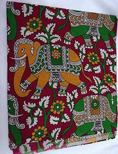a7dc828ed232a Cotton Kalamkari Blouse Material B011  Amazon.in  Clothing   Accessories