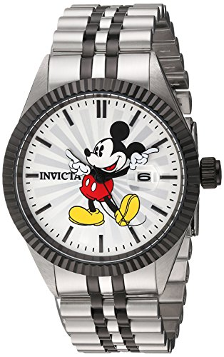 Invicta Men's 'Disney Limited Edition' Quartz Stainless Steel Casual Watch, Color:Two Tone (Model: 22773)