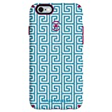 Speck CandyShell Inked Jonathan Adler Cell Phone Case for iPhone 6 Plus/6S Plus, AquaGreekKey/Lipstick Matte