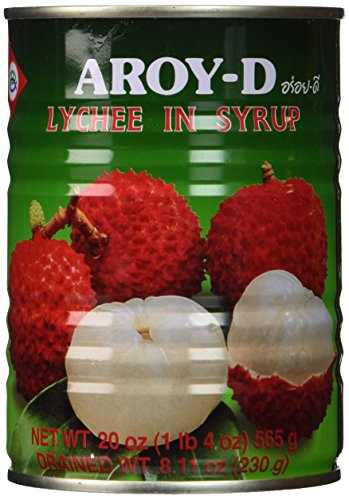Lychee in Syrup - 20oz (Pack of 6) by Aroy-D
