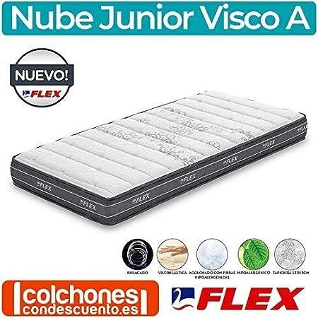 Flex - Colchón Flex Nube Junior Visco A - 90x190cm: Amazon.es ...