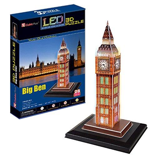 Georgie Porgy Puzzles 3D Jouet de Constructionpour Enfant Adulte (Big Ben - LED)