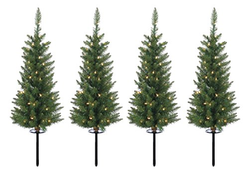 Outdoor Lighted Metal Trees - 4