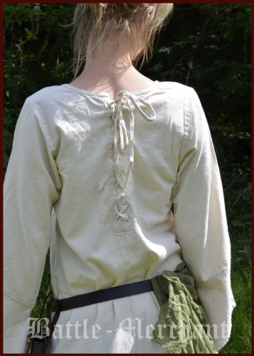 Battle Neira Kleid natur Larpkleid Merchant Mittelalterkleid Mittelalterliches Wikingerkleid xRZBU
