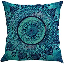 KMG Kimloog Hot Sale!Mandala Pillow Case Bohemia Design Indoor Outdoor Decorative Square Cushion Cover (A)