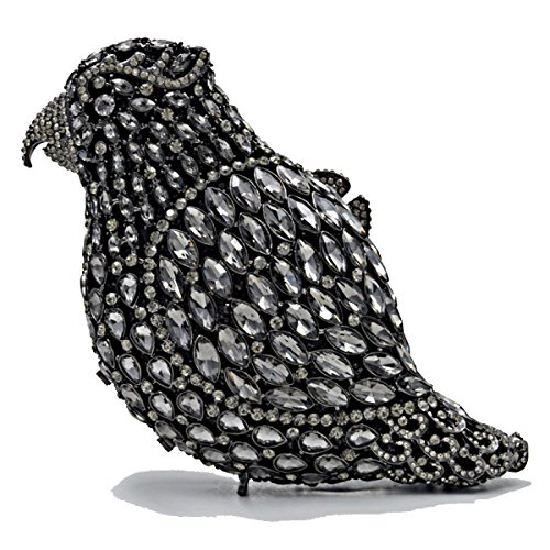 De I Soirée à Chaîne PU Mode Cuir Sacs Gamme Haut Sac Luxe Embrayage Main Oiseau Sac Pleine Diamant De qgwU4Xg