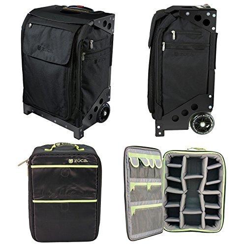 ZUCA Ultimate Rolling Camera Case - Flyer Travel Black/Black Frame and Photo Insert