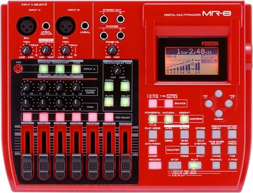 Fostex MR8 8-Track Digital Recorder with Built-In FX