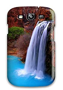 Awesome Design Blue Water And Red Rocks Hard Case Cover For Galaxy S3