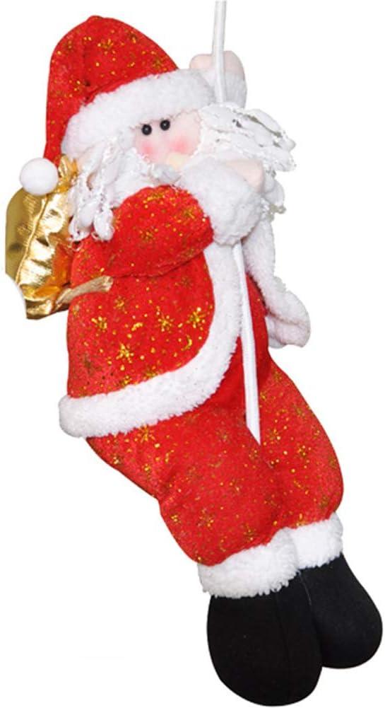 RoJuicy - Escalera de Navidad con Cuerda, diseño de Papá Noel: Amazon.es: Hogar