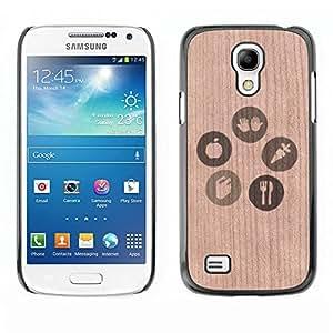 - / Ecology Sign Healthy Lifestyle - - Funda Delgada Cubierta Case Cover de Madera / FOR Samsung Galaxy S4 MiniI9190 I9192 I9195 / Jordan Colourful Shop/