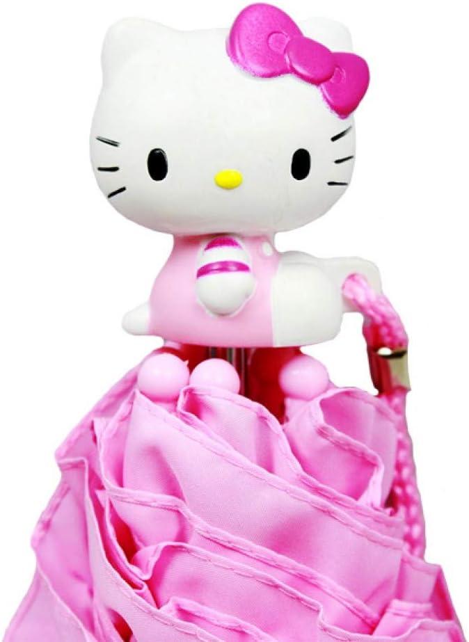 Sanrio Hello Kitty Kids Umbrella with 3D Hello Kitty Figurine Handle Applique