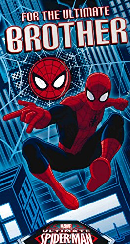 Marvel For The Ultimate Brother Spider Man Birthday Card Free