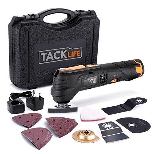 Tacklife Oscillating Tool Cordless 12V, Combat Multi Tool with 2.0Ah...