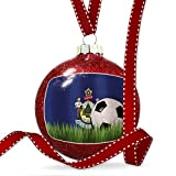 Christmas Decoration Soccer Team Flag Maine region America (USA) Ornament