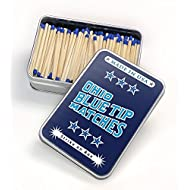 Ohio Blue Tip Safety Matches Light On Tin Container 250 Count Made In USA NEW