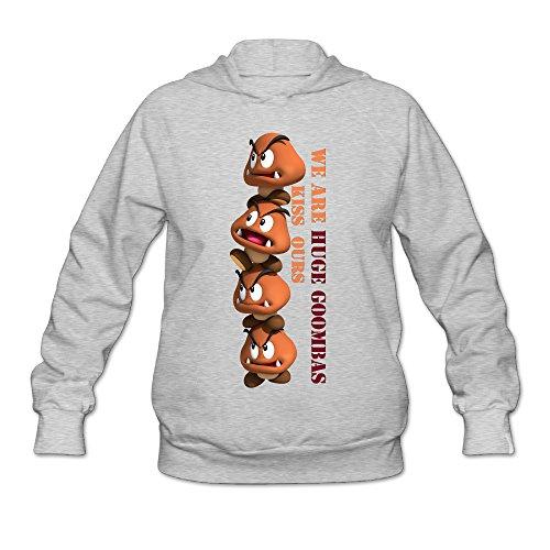[Jirushi Women's Super Mario Bro Goomba Pullover Hoodie Ash XX-Large] (Sunshine And Whiskey Costume)
