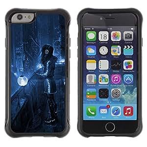 Be-Star único patrón Impacto Shock - Absorción y Anti-Arañazos Funda Carcasa Case Bumper Para Apple iPhone 6 Plus(5.5 inches)( Sci Fi Future City )