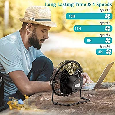 Strong Wind,3 Speeds 2A Fast Charging Waist Fan USB Powered Personal Fan for Outdoor,Hiking,Camping Waist Cooling Fan Outdoor Fans Electric Clip On Waist Fan with 5200mAh Rechargeable Battery