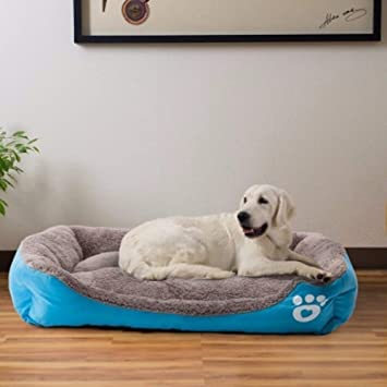 Decdeal Cama Cálida para Perros de Invierno Suave Cómodo Casa para Mascota Dormir Nido: Amazon.es: Hogar