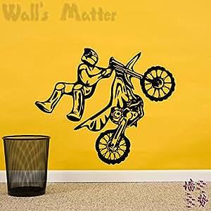 Moto pegatinas pared decoración hogar decoración etiqueta moda resistente al agua y lindo dormitorio salón sofá casa familiar vitrina
