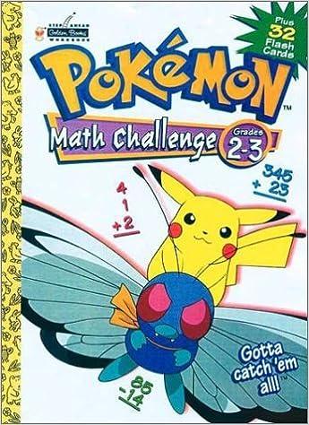 Book Pokemon Math Challenge Grades 2-3 Plus 32 Flash Cards by Golden Books (2000-01-27)