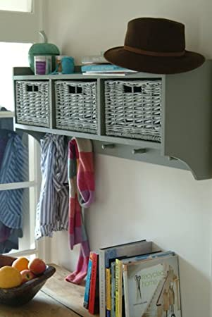 Marvelous Wall Mounted Storage Unit With Baskets