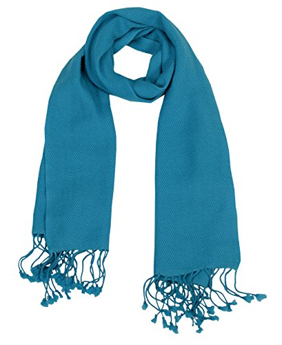 Unisex Lovely Cashmere Scarf Soft and Warm Neck Scarves in Solid Colors(Turquoise) ()