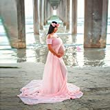 Malltop Pregnants Photography Pregnant Long Dress, Slim Off Shoulders Maternity Tunic