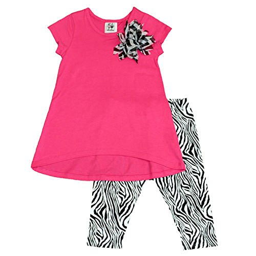 - Girlfriends by Anita G. Girls' 2-piece Set-Fuchsia/Zebra, 6