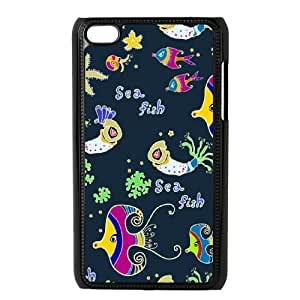 Ipod Touch 4 Sea creatures Phone Back Case DIY Art Print Design Hard Shell Protection DF094131