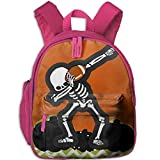 Ugift Cool Print Halloween Dabbing Skeleton Football 2-6 Child Book Bag Birthday Gift Prize Schoolbag
